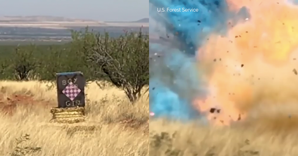 A Border Agent's Gender Reveal Party Exploded into Giant Wildfire