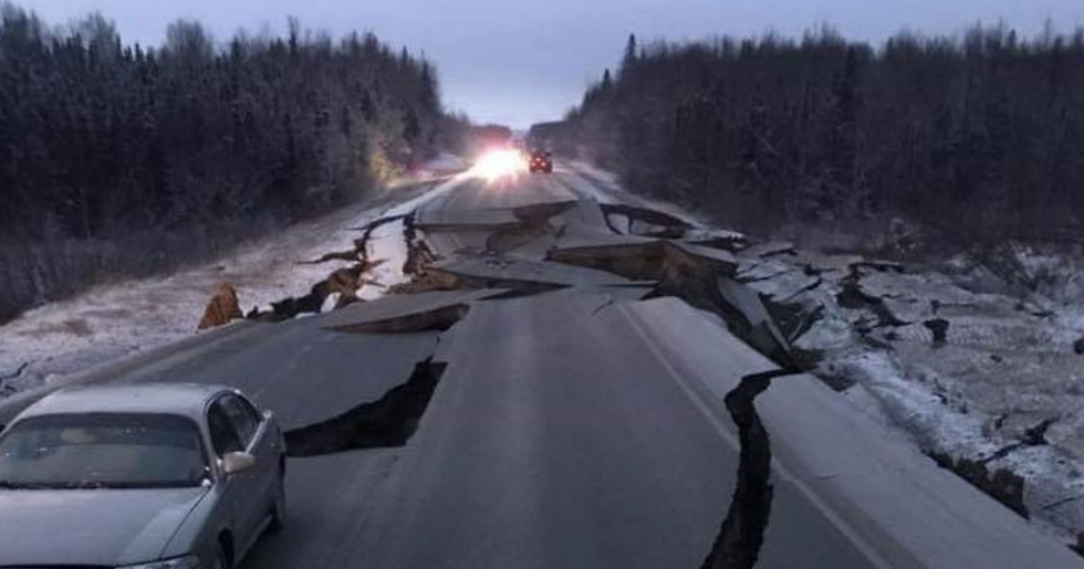 A Giant Earthquake Just Rocked Alaska, Ripping Streets Into Pieces