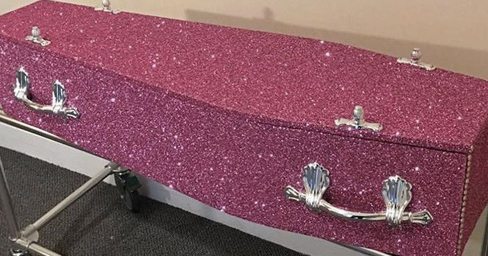 Glitter Coffin Will Make Sure Your Funeral Is As Fabulous As You