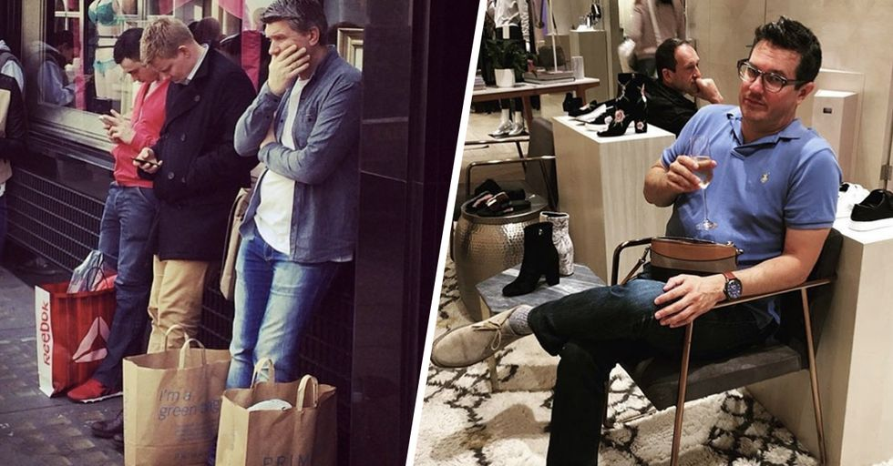 Hilarious Photos of Miserable Men Passing Time While Their Partners Are Shopping