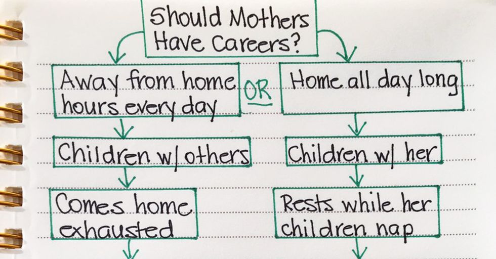 This Woman's Sexist Infographic 'Proves' Mothers Shouldn't Have Careers