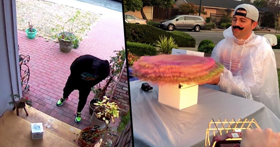 Fake Package Covers Porch Thieves In Glitter And Fart Spray