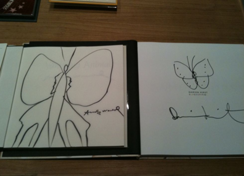 """Bill Powers' """"Drawings in Books"""" at the Gagosian Store"""