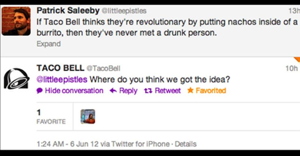 Silly Tweets from Taco Bell's Corporate Account