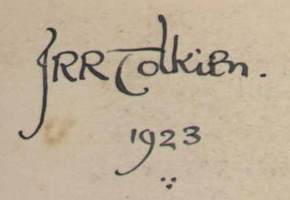 Tolkien's handwriting looks like it was penned in Middle Earth [10 pictures]
