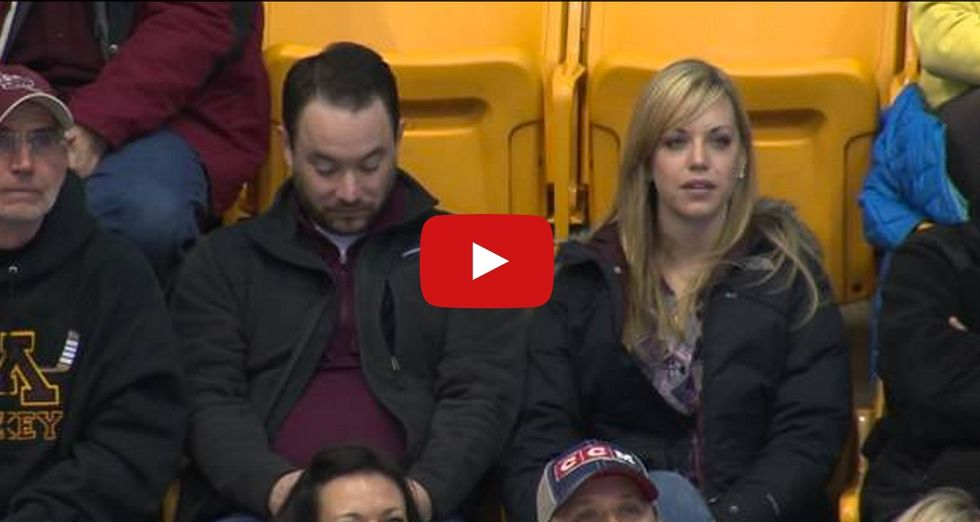 Man Prepares Beforehand for Possible Kiss Cam Scene with a Woman He's Not Dating