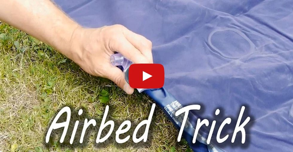 How to inflate an air mattress without a pump (Bonus: No blowing required)