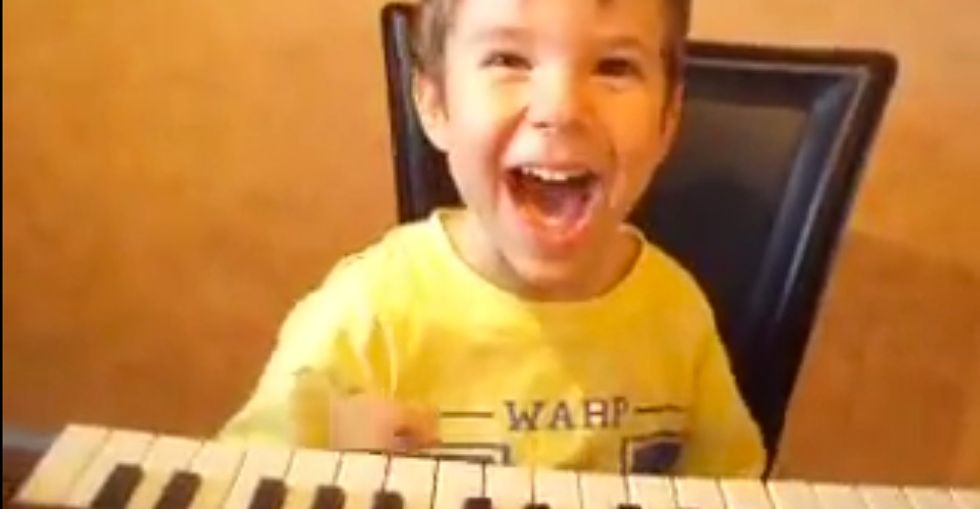 4-year-old plays piano like you've never seen. He's amazing...but not how you expect him to be