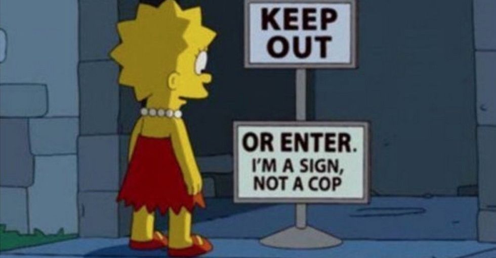 The 33 Funniest Signs Ever Seen on The Simpsons