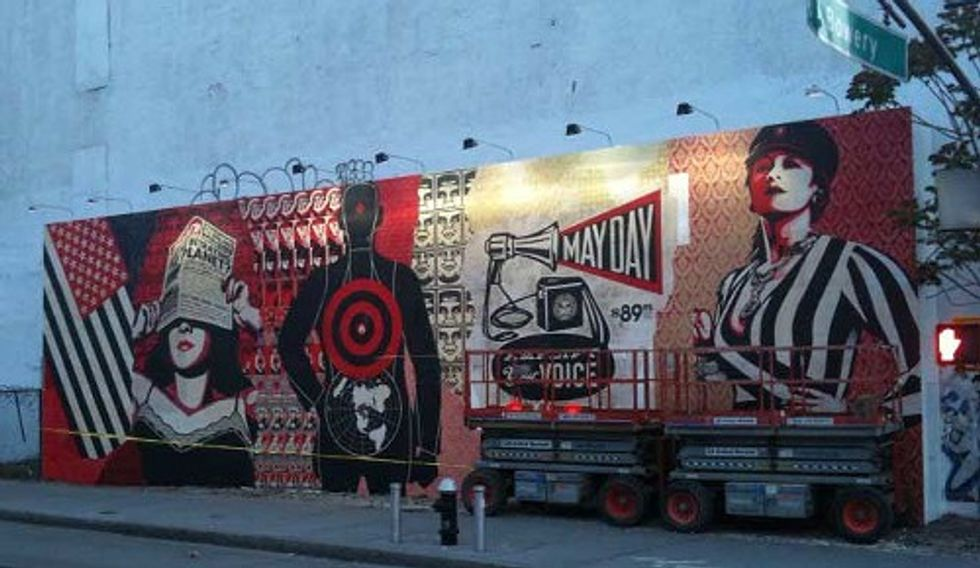 Eight Items Or Less: Shepard Fairey's Bowery Mural & L.A. to Get a Pot Hotel?
