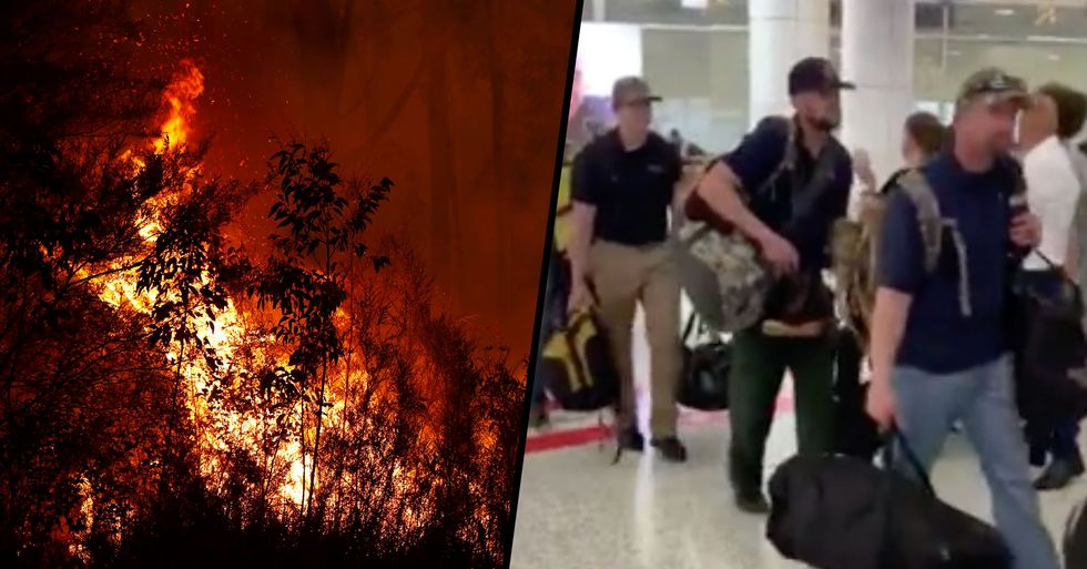 American Firefighters Greeted With Applause as They Arrive in Australia
