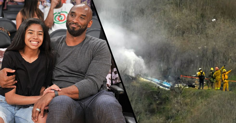 Heartbreaking Video Shows The Aftermath of Kobe Bryant's Helicopter Crash