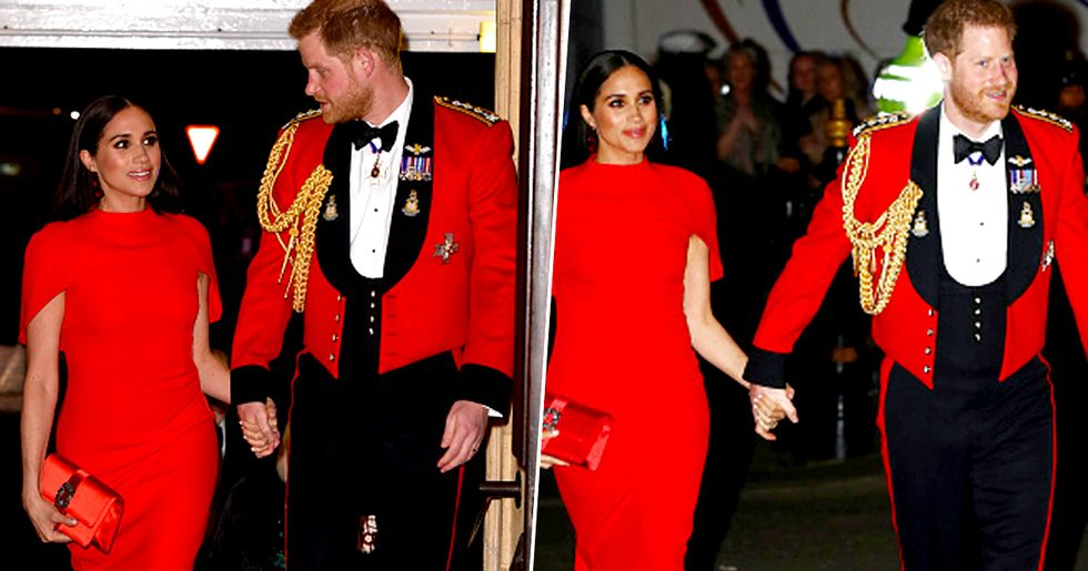 Prince Harry and Meghan Markle Wear Royal Red Before Stepping Down
