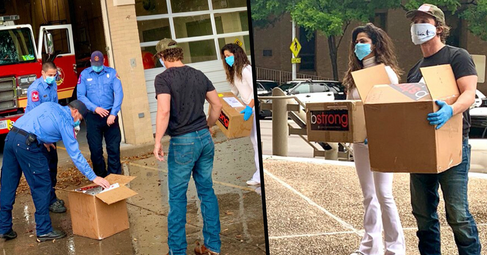 Matthew and Camila McConaughey Donate 80,000 Masks to Frontline Heroes