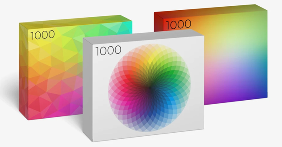 1,000-Piece 'Color Puzzles' Are 'Specifically Designed to Bring a Sense of Calm'