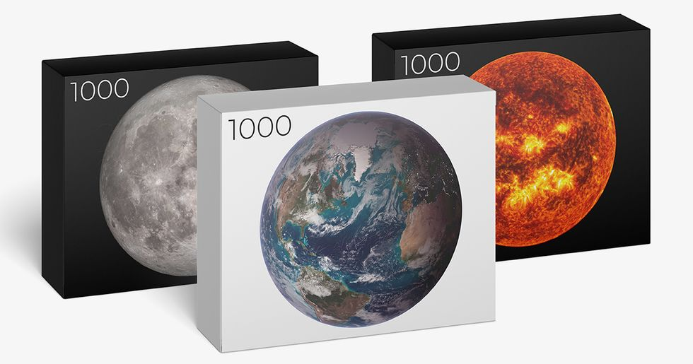 1,000 Piece Earth, Moon, and Sun Jigsaw Puzzles Are Out of This World