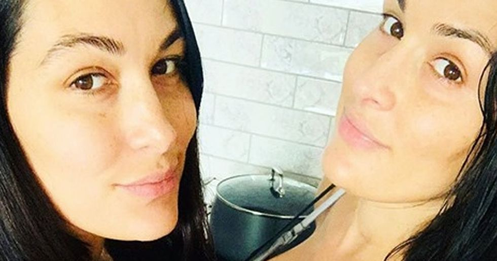 Nikki and Brie Bella Share Two Weeks Postpartum Selfie After Sons' Births