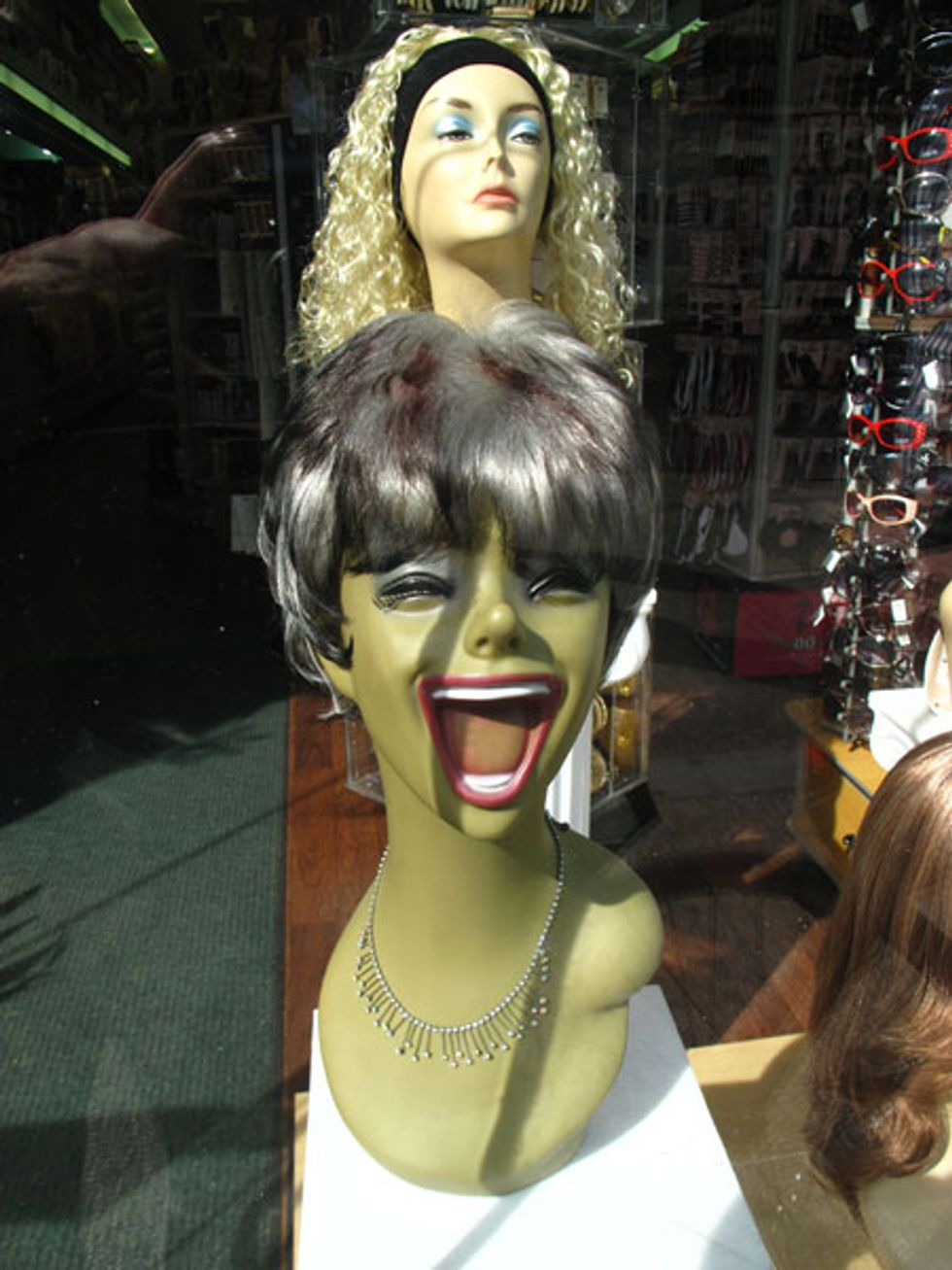 Beauty Look of the Day: Scary Mannequin at the Wig Store!