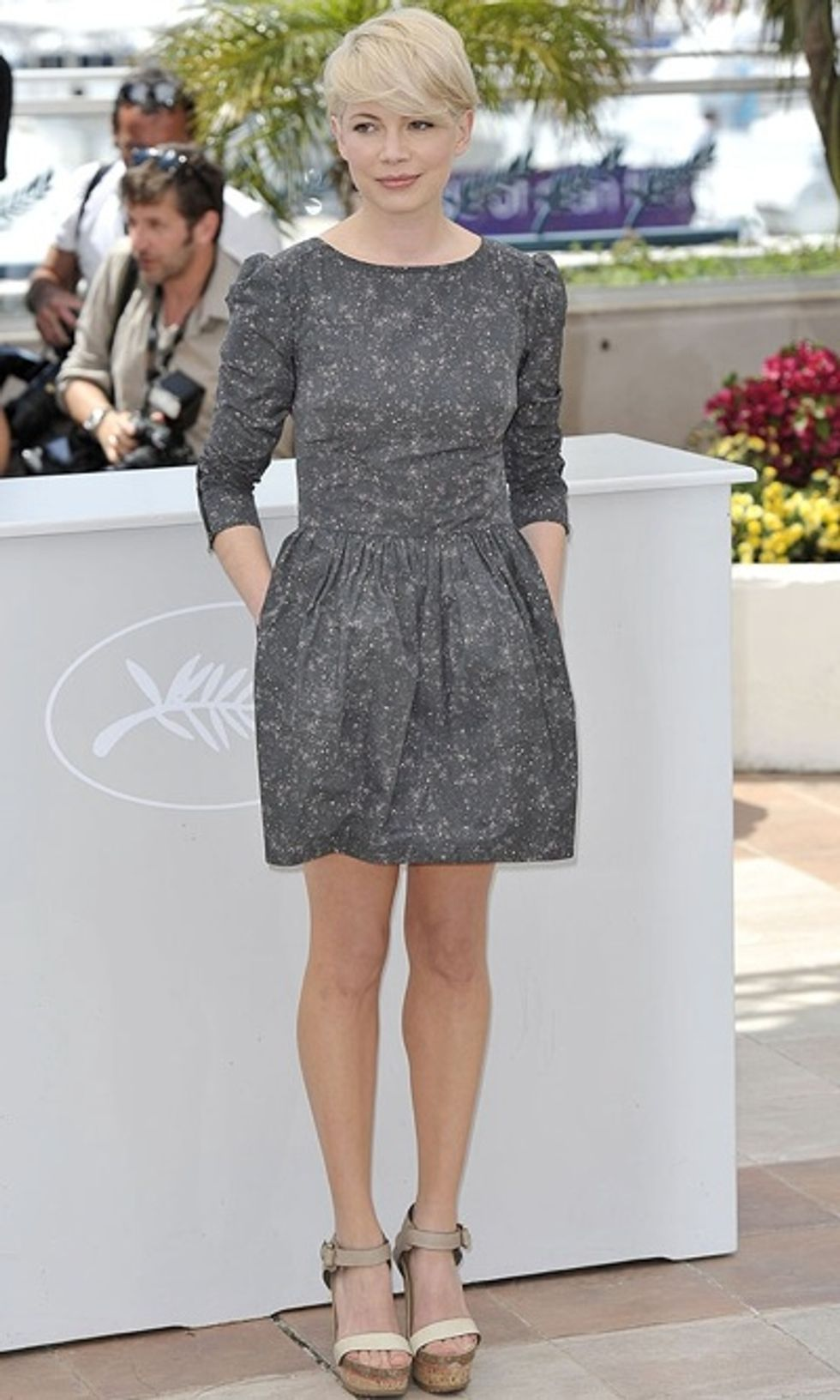 Michelle Williams Sports SUNO At Cannes. We Chat With Designer Max Osterweis About the Jaunty Frock.