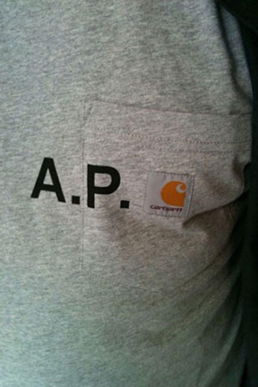 A.P.C. + Carhartt = Logo Love
