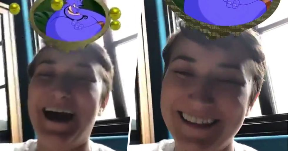 Robin Williams' Daughter Tries Viral Disney Filter and Gets Matched With The Genie