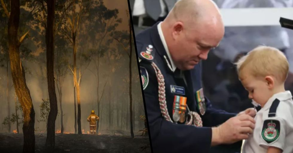 Son of Volunteer Firefighter Receives Bravery Medal After Dad Was Killed in Bushfires