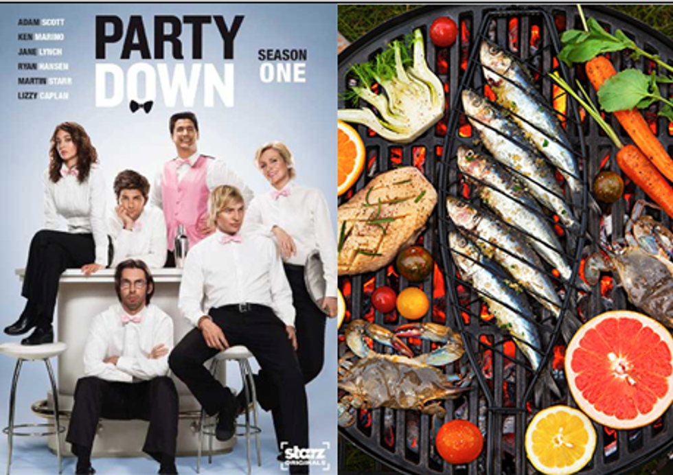 Party Down at the Grill in Today's Eight Items or Less