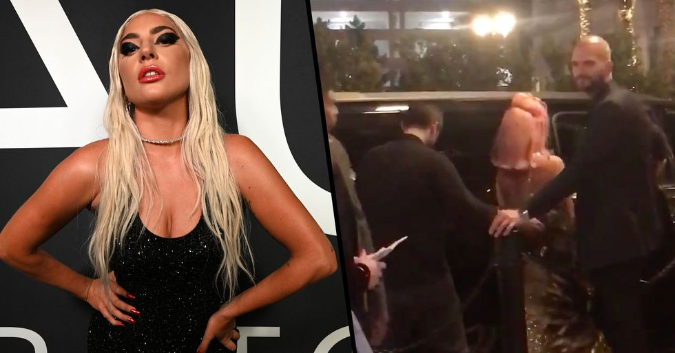 Lady Gaga Spotted Kissing Mystery Man at Midnight on New Year's Eve