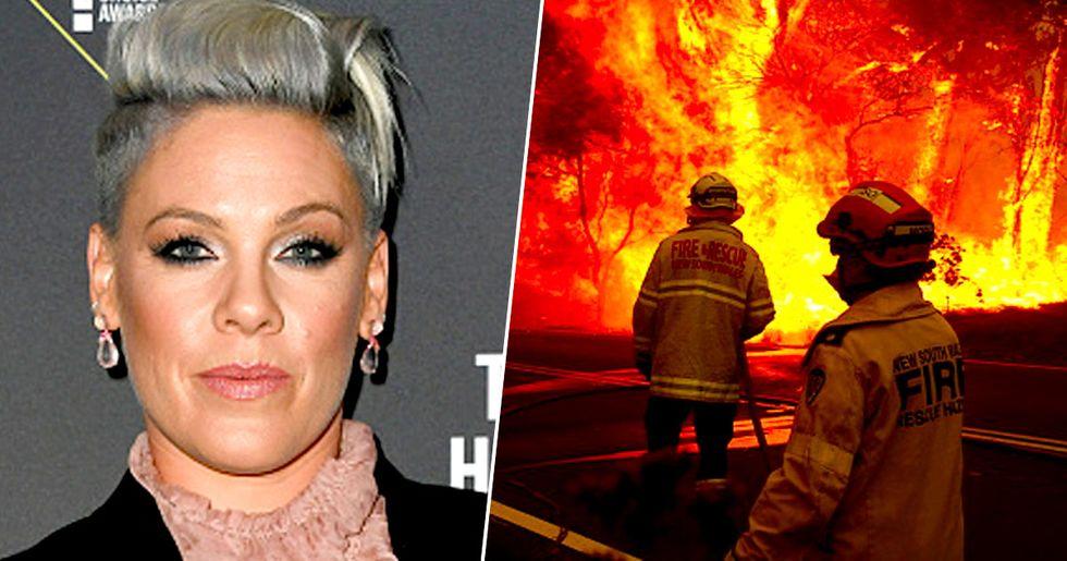 P!nk Donates $500,000 to Australian Firefighters as Bushfires Rage On