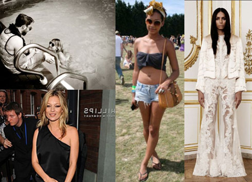 The Fashion Set Celebrates July 4th With Vodka and Mario Testino Celebrates Kate Moss With an Art Exhibit in Today's Style Scraps.