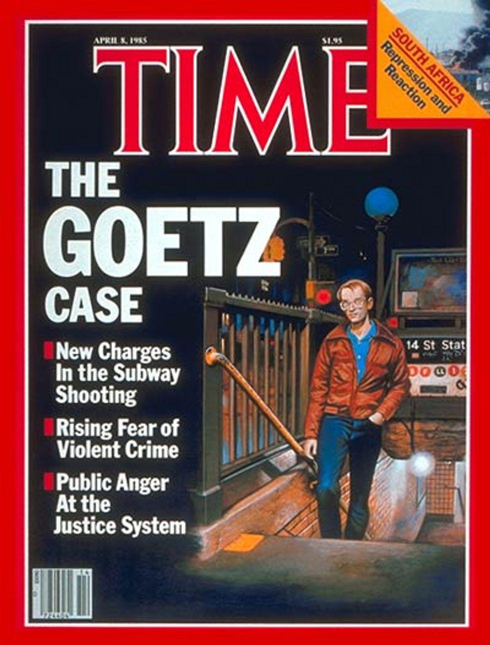 Me, Bernard Goetz and an Elevator.