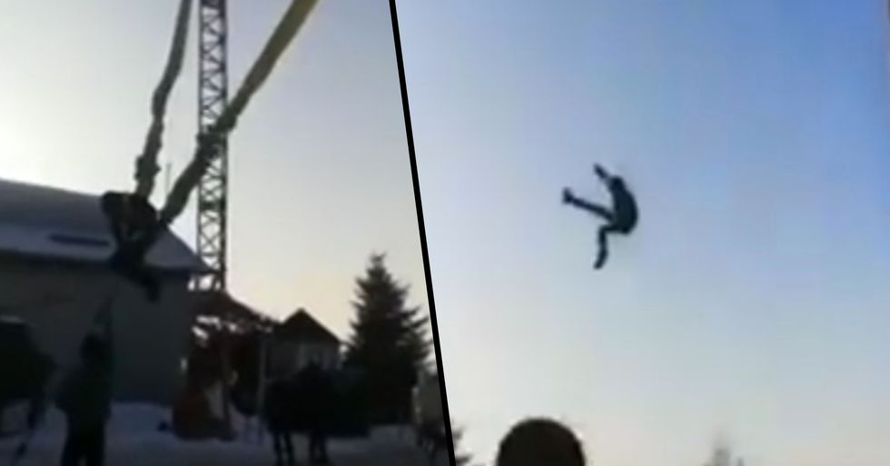 Horrific Moment Fairground Bungee Ride Goes Wrong and Catapults Teen 20ft in the Air