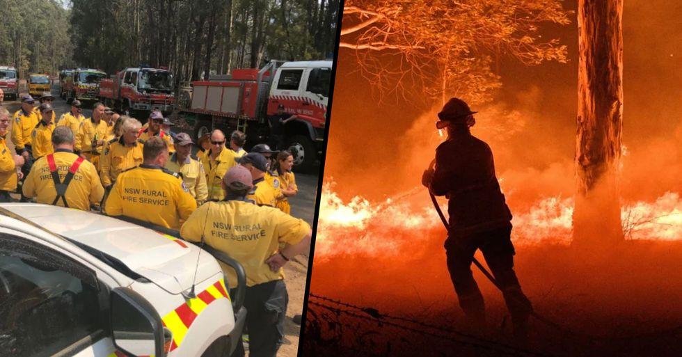 Australian Frontline Fire Crews Cheer as Canadian Team Arrives to Help Tackle Bushfires