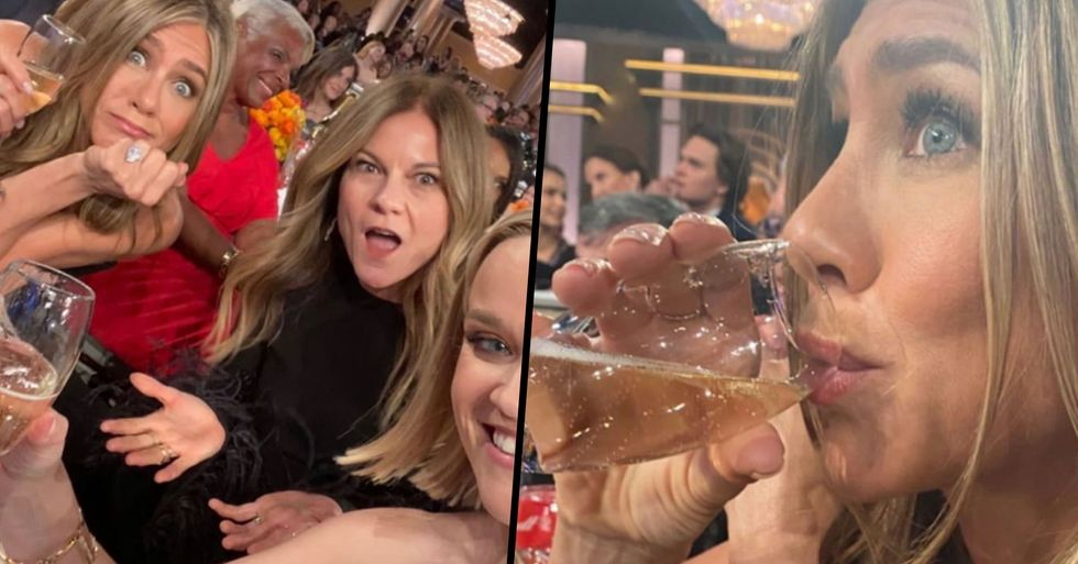 Reese Witherspoon Asked Beyonce to Give Her and Jennifer Aniston a Glass of Champagne at the Golden Globes