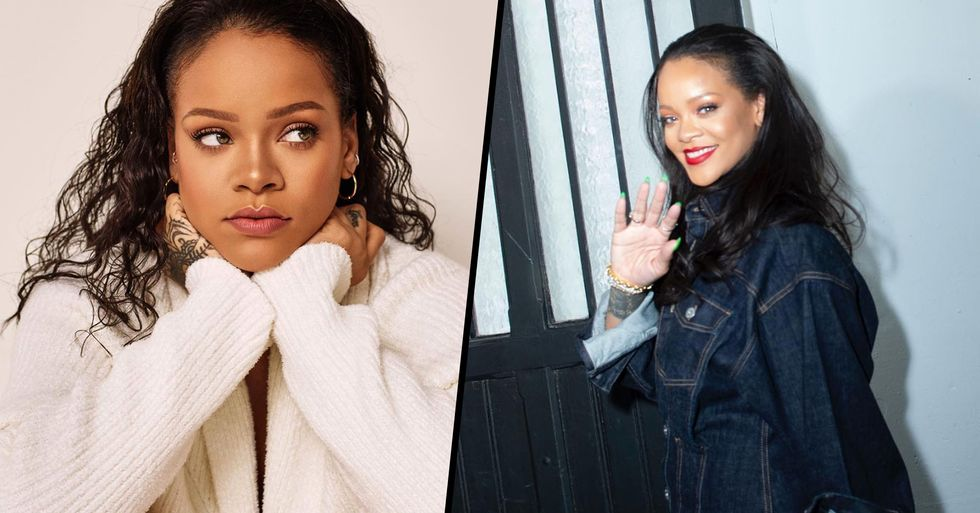 Rihanna Proudly Shows Her Pimples in Makeup-Free Selfie