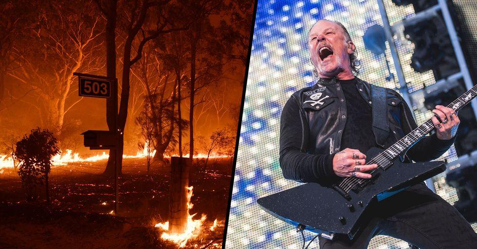 Metallica Pledges $750,000 to Australian Bushfire Relief Effort