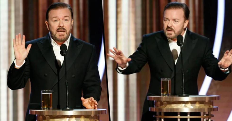 Ricky Gervais Reveals His Censored Golden Globes Joke