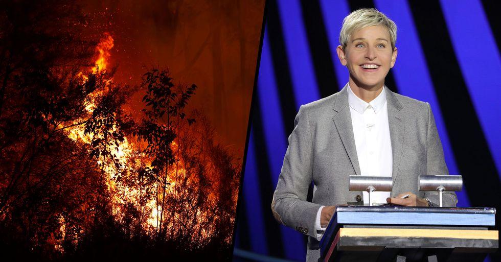 Ellen Degeneres Launches GoFundMe to Raise $5 Million for Australian Bushfire Relief