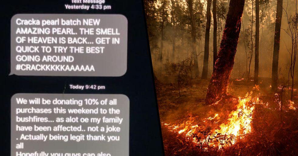 Aussie Drug Dealer Donating 10 Percent of Weekend's Profits to Bushfire Crisis