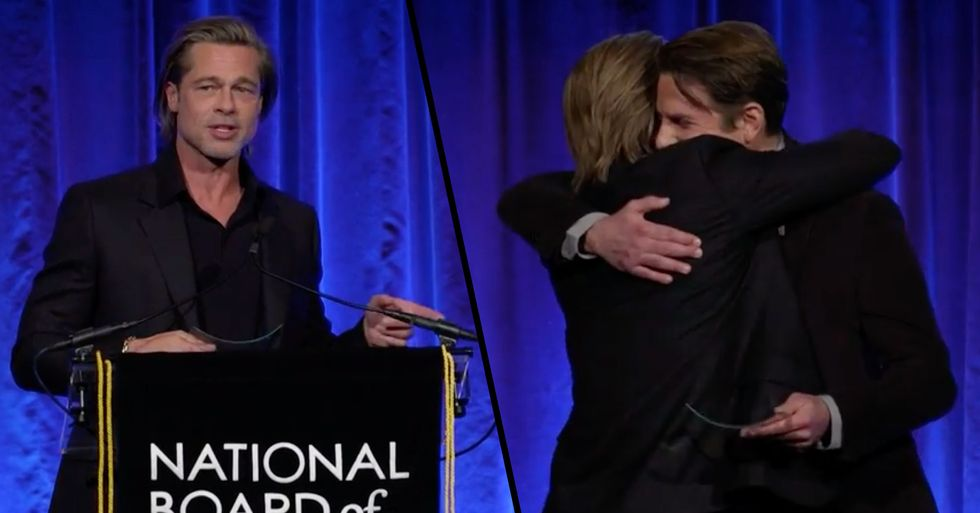 Brad Pitt Credits Bradley Cooper for Helping Him Get Sober in Touching Speech
