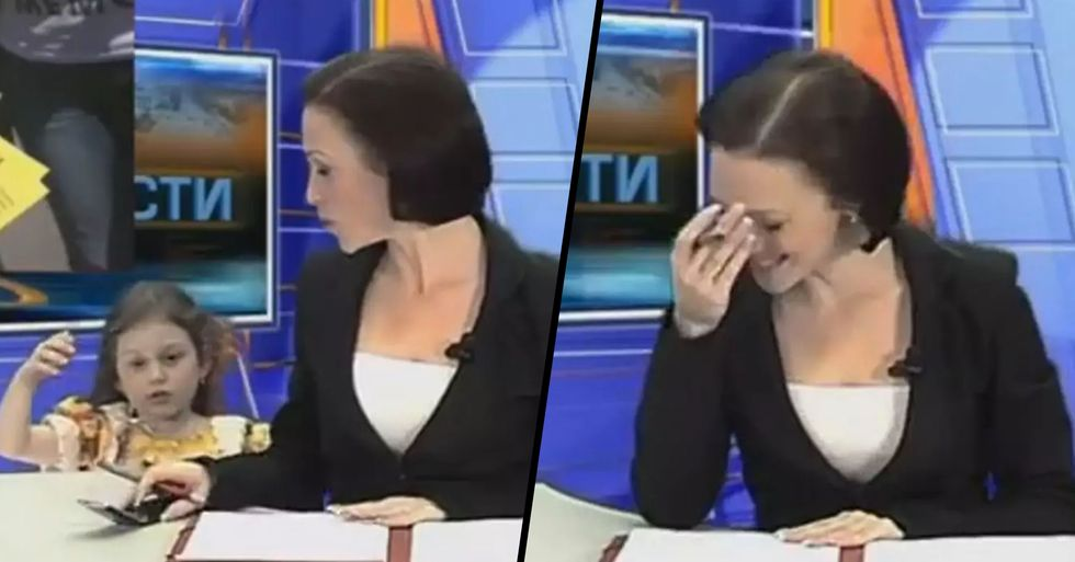 Newsreader's Daughter Interrupts Bulletin to Say She Has a Text Message