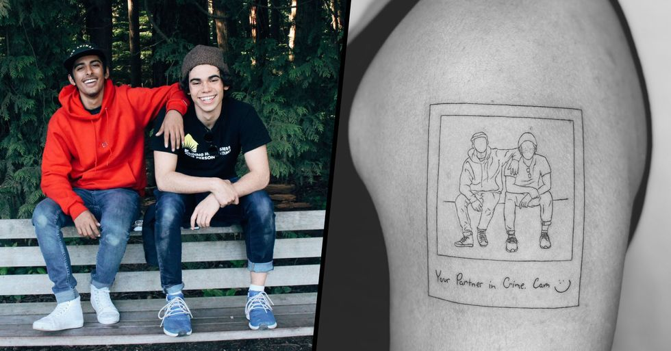 Karan Brar Got a Beautiful Tattoo in Honor of Cameron Boyce