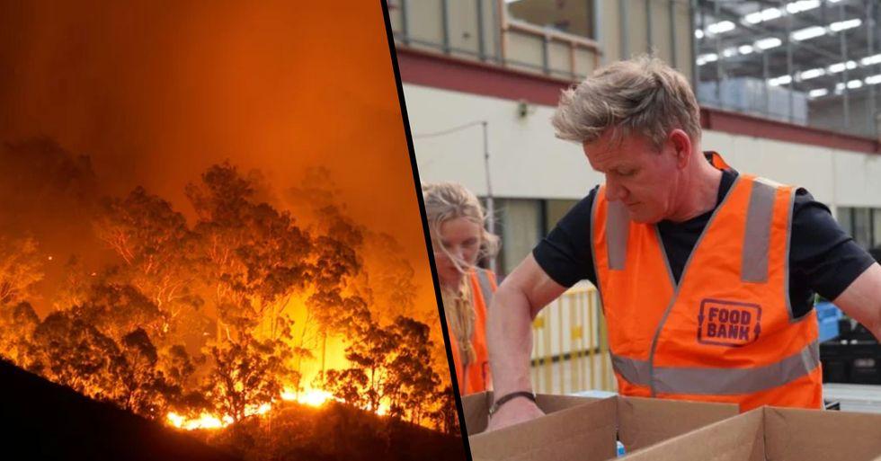 Gordon Ramsay Volunteers at Melbourne Food Bank Amid Devastating Bushfires