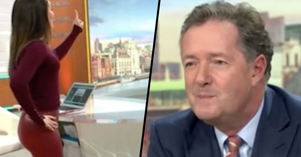 Piers Morgan Branded 'Sexist' and 'Disgusting' for Comments He Made About Weather Reporter Live on Air