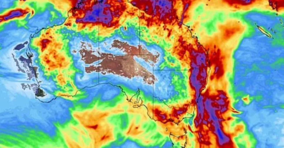Incredible Map Shows 'Rain Bomb' Striking Australia