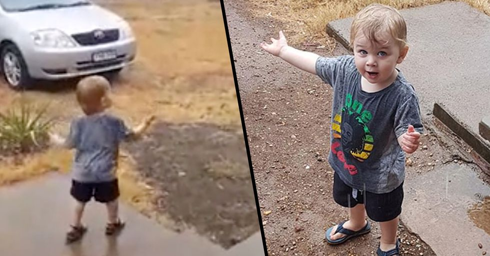 Toddler Joyfully Jumps in Puddles as He Sees Rain for the First Time Amid Australia's Drought Crisis