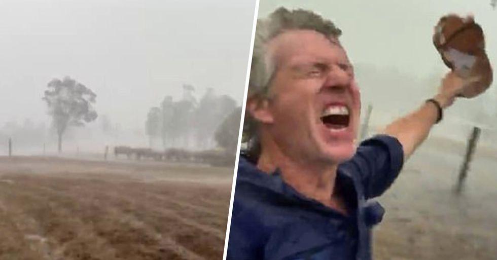 Aussie Farmer Celebrates as Heavy Rain Finally Falls on His Drought-Stricken Land