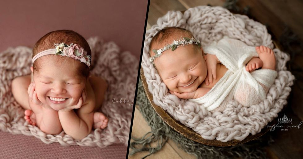 Photographer Adds Full Sets of Teeth to Newborn Photos and It's Hysterically Creepy