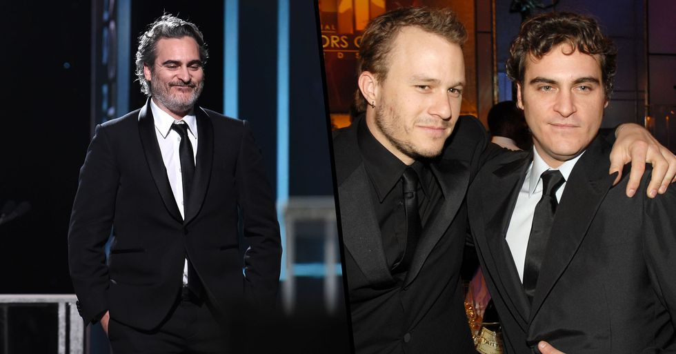 Joaquin Phoenix Pays Touching Tribute to Heath Ledger in SAG Awards Speech