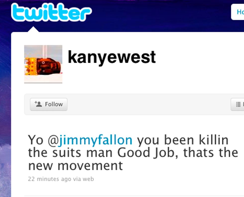 Kanye Joins Twitter & Anna Fetes Obama in Today's Eight Items or Less